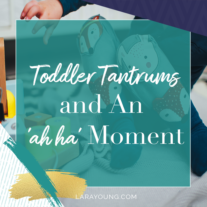 Toddler Tantrums + An 'ah ha' Moment